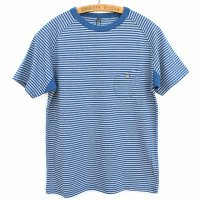 Nigel Cabourn<p>Basic T-Shirt<p>Border - ブルー