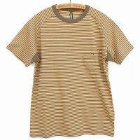 Nigel Cabourn<p>Basic T-Shirt<p>Border - カーキ