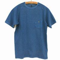 Nigel Cabourn - Basic T-Shirt<br>Pigment 顔料染 - ブルー