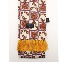 <img class='new_mark_img1' src='https://img.shop-pro.jp/img/new/icons47.gif' style='border:none;display:inline;margin:0px;padding:0px;width:auto;' />TOOTAL - Tile & Paisley Silk Scarf - Ivory