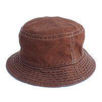 Nigel Cabourn x Lybro<p>BUCKET HAT - Brown