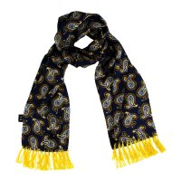 <img class='new_mark_img1' src='https://img.shop-pro.jp/img/new/icons5.gif' style='border:none;display:inline;margin:0px;padding:0px;width:auto;' />TOOTAL 1960s Paisley Scarf - Navy x Gold