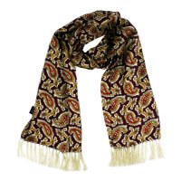 <img class='new_mark_img1' src='https://img.shop-pro.jp/img/new/icons5.gif' style='border:none;display:inline;margin:0px;padding:0px;width:auto;' />TOOTAL 1960s Paisley Scarf - Oxblood