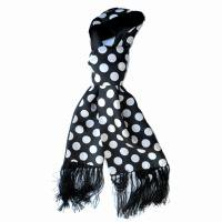 TOOTAL SILK SCARF/ PENNY DOT