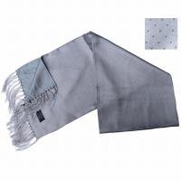 SALE 40% OFF<br>TOOTAL - Pin Dot Silk Scarf - Silver