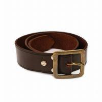 vasco Leather Garrison Belt<p>レザーギャリソンベルト - ブラウン