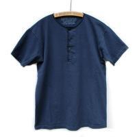 Nigel Cabourn<p>Basic Henley Short Sleeve<p>ベーシックヘンリーネックTシャツ (ネイビー)