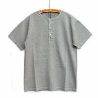 Nigel Cabourn<p>Basic Henley Short Sleeve<p>ベーシックヘンリーTシャツ (グレー)