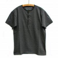 Nigel Cabourn - Basic Henley T-Shirt Grandrelle - 杢糸素材 チャコール