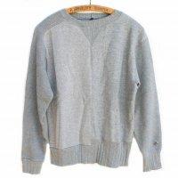 Nigel Cabourn<p>Army Crew Jersey Mix Sweatshirt<p>切替しスウェットシャツ - グレー