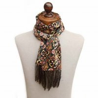 TOOTAL Deco Print Silk Scarf
