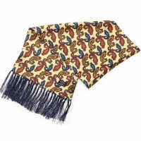 TOOTAL Small Paisley Silk Scarf