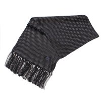 TOOTAL Pin Dot Silk Scarf - Black