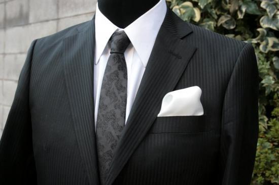 シルク100%ポケットチーフ[ホワイトNo1]シルクチーフ
