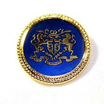 七宝No14・ゴールド紺(20mm・15mm) 紳士服スーツジャケット用メタルボタン