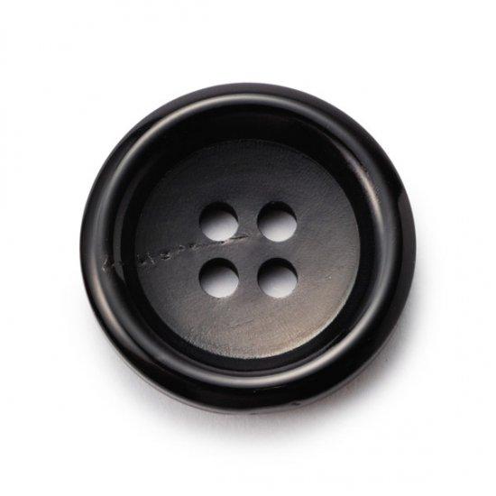 K-150水牛ボタン(艶あり) ColorNo.5(30mm,25mm,23mm,20mm,18mm,15mm) 紳士服スーツジャケットに