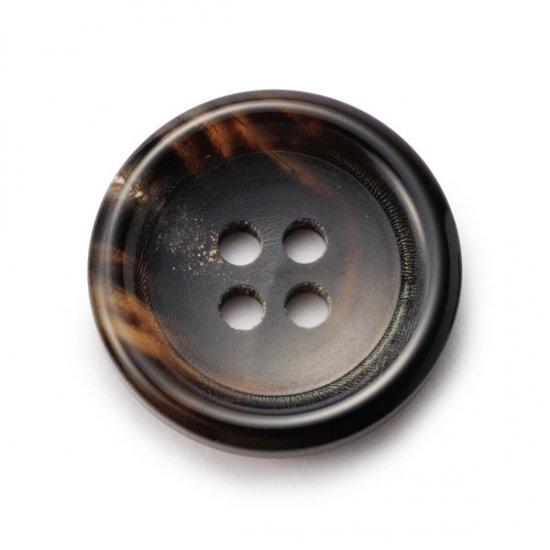 K-150水牛ボタン(艶あり) ColorNo.7B(30mm,25mm,23mm,20mm,18mm,15mm) 紳士服スーツジャケットに
