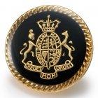 メタルボタンY-55ゴールド・黒(20mm・15mm) 紳士服スーツジャケット用ボタン