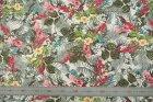 8224(カラー1005)プリント裏地(ユーロデザインシリーズ・アマゾンリーフ)ボタニカル柄裏地