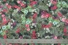 8224(カラー1010)プリント裏地(ユーロデザインシリーズ・アマゾンリーフ)ボタニカル柄裏地