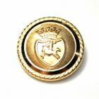 [処分品]メタルボタンI-12ゴールド(15mm) 紳士服スーツジャケット用ボタン