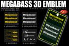 3D EMBLEM ステッカー