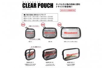 メガバス (Megabass)<br>Megabass CLEAR POUCH (メガバス クリア ポーチ)<br>Lサイズ