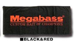 Megabass フェイスタオル (BLACK & RED)