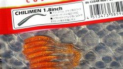 メガバス (Megabass) チリメン (CHILIMEN) 1.8inch クリアレッドゴールドフレーク