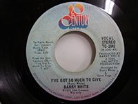 <b>Barry White / I've Got So Much to Give - Inst</b>