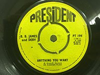 BB James and Derv / Anything You Want - Kiss Me Kiss Me
