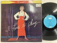 Betty Bennett / I Love to Sing