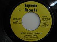 <b>Willie Williams/Wine Headed Woman('70)</b>