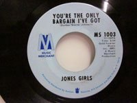 <b>Jones Girls / Come Back - You're the Only Bargain I've Got</b>
