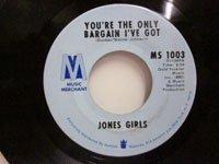 <b>Jones Girls / Come Back - You're the Only Bargain I've Got</b>