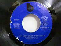<b>Marlena Shaw / Just Don't Want to be Lonely - Easy Evil</b>