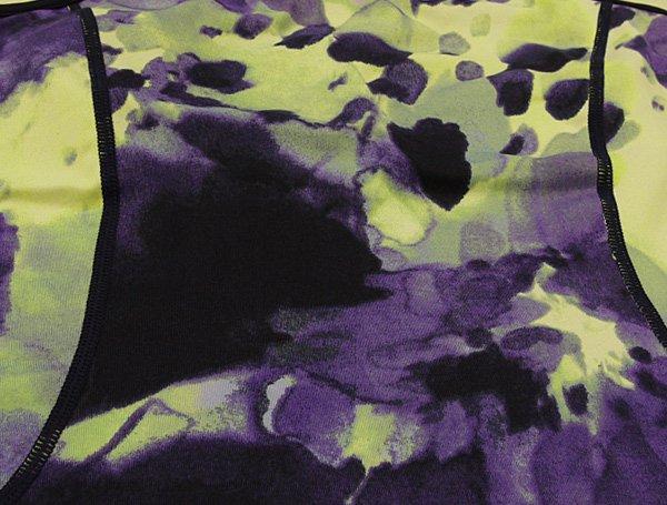 inblack ブラトップ パープル花びら模様 [取り外し可能なブラパッド付] ヨガ・フィットネスウェアに!m2227-nb01