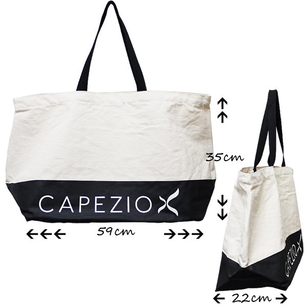 Capezio[カペジオ]大容量 ダンス トートバッグ ロゴ入り シリコーン樹脂加工 ジュニアから大人用[宅配便限定]*b201w