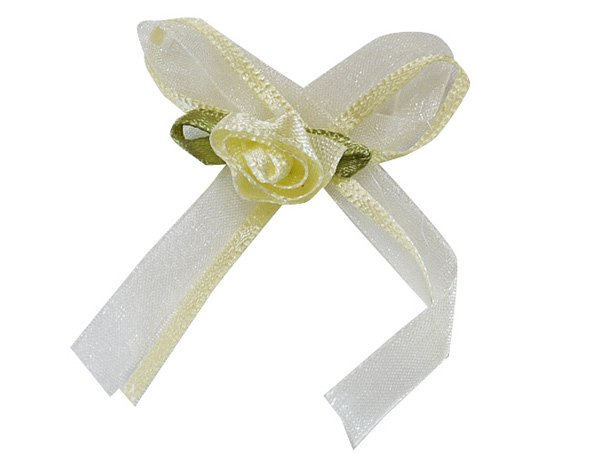【ゆうパケット送料無料】モチーフ 4個セット 飾り ローズリボン バレエ衣装・シューズ・マスク用飾り*deco-021