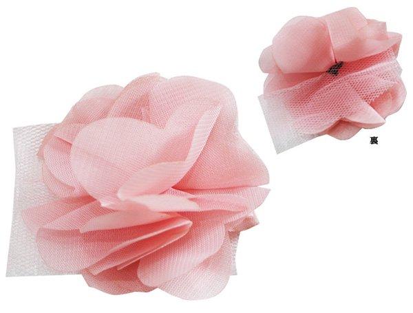 【ゆうパケット送料無料】モチーフ 4個セット 飾り ふわふわフラワー バレエ衣装・シューズ・マスク用飾り*deco-025