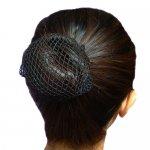 【10個以上送料無料】シニヨン用ヘアネット ブラック 1つ結び用 まとめ髪に最適 *hair-0009