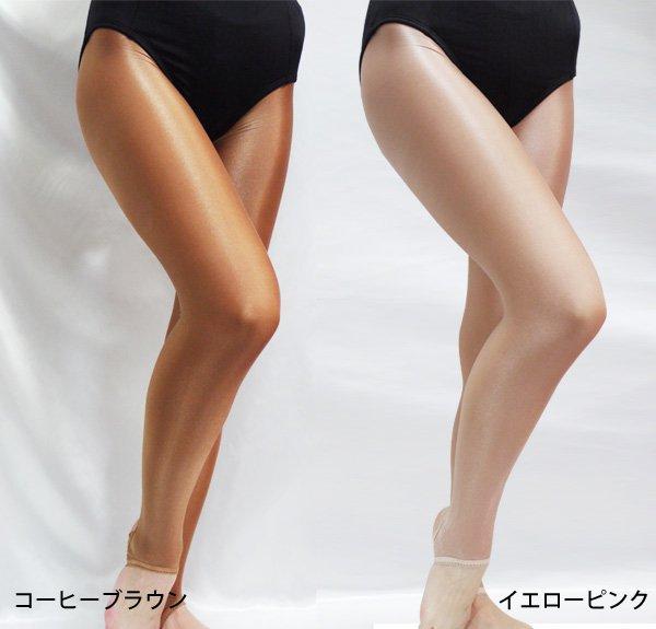 光沢あり ダンシングタイツ トレンカタイプ 2色*soho-5-2