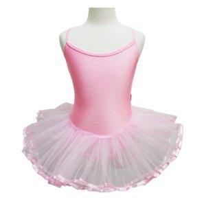 【SALE】バレエ用品 ジュニア裾サテンリボンのキャミバッククロスタイプ こども用チュチュ[B対象]*200106