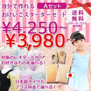 [ゆうパケット送料無料]自分で作るバレエおけいこスターターセット【A】激安3980円〜