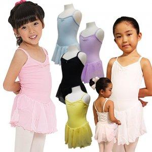 子供用 ラインストーンスカート付キャミバレエレオタード[4色][A対象]*cbl05