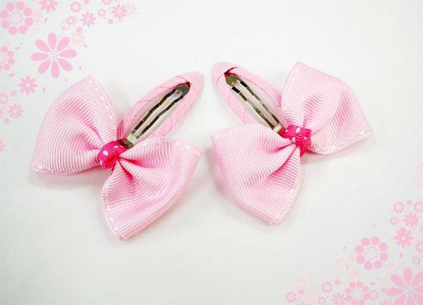 バレエ用品 ステッチリボンヘアピン [ピンク]パケット便OK*ribbonpin-017