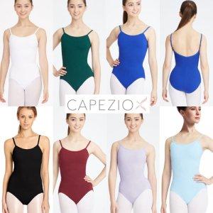 Capezio[カペジオ]ストラップアジャスター付キャミレオタード全8色 バレエレオタード*cc100