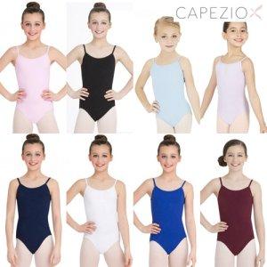 Capezio[カペジオ]子供・ジュニア用ストラップアジャスター付キャミレオタード全9色*[Aセット対象]100c