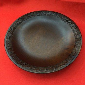 盛り皿(庄川挽物+)ー桜柄