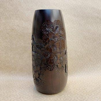 花瓶(細・中)-さくら材